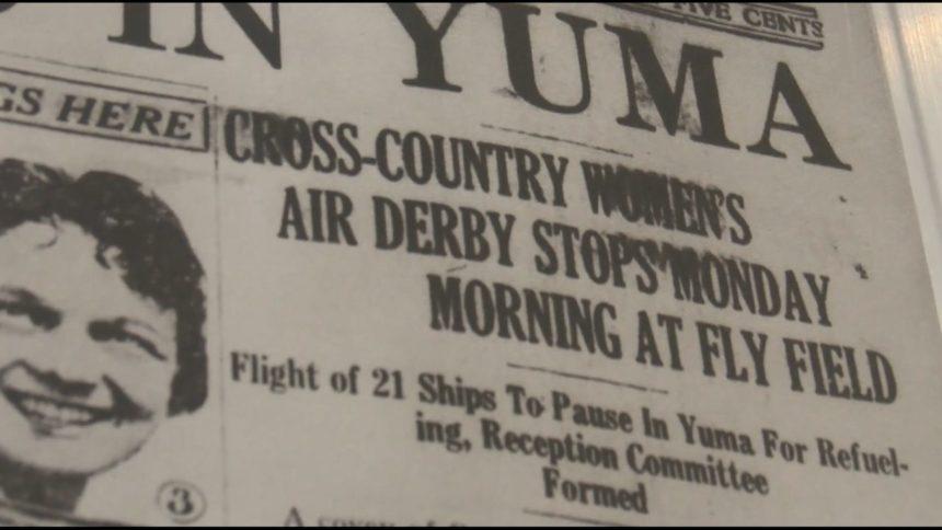 Women Aviators Arrive to Yuma